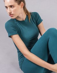 CONFORT YOGA TEE - BLUE CORAL (3)
