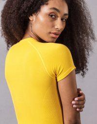 CONFORT YOGA TEE - yellow (1)