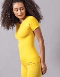 CONFORT YOGA TEE - yellow (2)